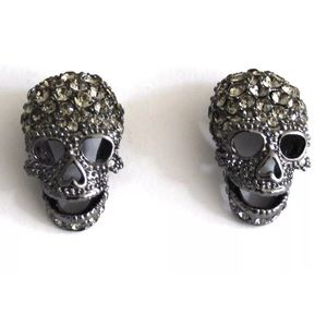 Butler and Wilson crystal skull studs.